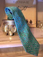 NWOT Ted Baker London Atlantis Blue 100% Italian Silk Tie, Classic Length