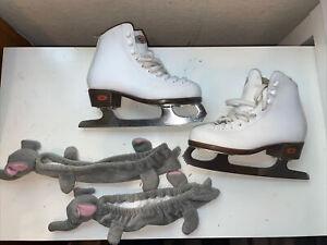 Ice Figure Skates RIEDELL Stock #12W White Size 2