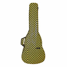 Beaumont Stylish NYC Yellow Checks Acoustic/Classical Padded Designer Guitar Bag