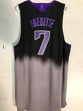 Adidas Swingman NBA Jersey SACRAMENTO Kings Jimmer Fredette Black Fadeaway sz XL