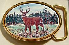 Belt Buckle Barlow Photo Reproduction Standing Deer Traditional Brass 590605c