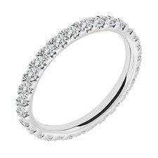 1.25 Carat G-H Diamond Full Eternity Anniversary Band Bridal Ring 14K White Gold