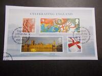 GB 2007 ~Celebrating England M/S~Very Fine Used Set, on piece~ex fdc~UK Seller