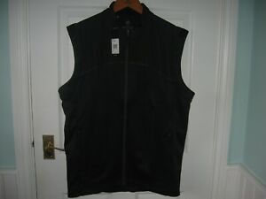 BNWT MEN ADIDAS GO TO SLEEVELESS FULL ZIP WATER RESIST GOLF VEST TOP M BLACK