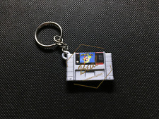 SUPER MARIO WORLD MINI CARTRIDGE KEYCHAIN super nintendo snes collectible