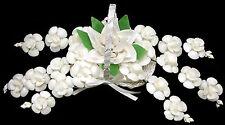 "Large White Seashell Flower Wedding Bouquet 15"" Table Deco Centerpiece Beach"