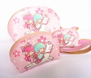 Cute 3pcs Little Twin Stars PU Purse Makeup Bag Toiletry Cosmetic bag Handbag