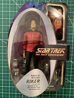 """Star Trek The Next Generation ADMIRAL WILLIAM RIKER 7"""" Action Figure TNG DST"""