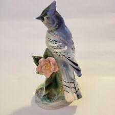 Blue Jay Porcelain Figurine Bird Ugcagco Japan Vintage