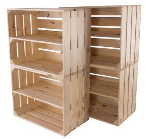 Apfelkiste Zwischenbrett Natur Schuhregal,Obstkisten Kisten, Holzkisten (1,4,6)