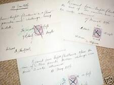 3 wage receipts Robert Doyle Leek Staffordshire 1896