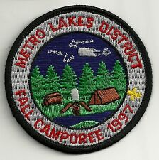 BSA METRO LAKES District 1997 Fall Camporee Patch V4