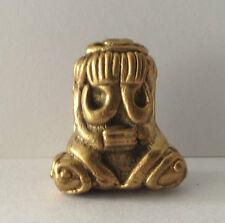 Statuette figurine bronze doré amulette BOUDDHA DIVINITE VISAGE CACHE Chine b52