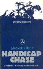 MERCEDES-BENZ HANDICAP CHASE AT CHEPSTOW 5 Oct 1991 HORSE RACING RACE CARD