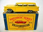 Matchbox No.31B Ford Station Wagon yellow body rare BLACK base boxed