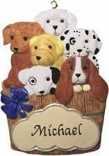PERSONALIZED PUPPY DOG ORNAMENT MAGNET JEANE'S THINGS