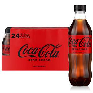 Coca-Cola Zero Sugar (16.9oz / 24pk) yummy NEW