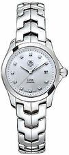 WJF1317.BA0572 Tag Heuer Link Ladies Diamond Pearl Quartz Stunning Watch and Box