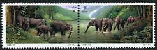 China PRC 2579-2580a pair,MNH.Diplomatic Relations China-Thailand.Elephants,1995