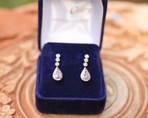 Boucles d'oreilles Diamants poires 18K