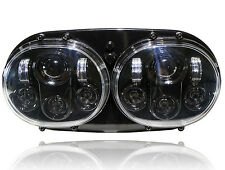 GENSSI Dual LED Headlight Assembly for Harley-Davidson Road Glide Hi/Lo Beam 80W
