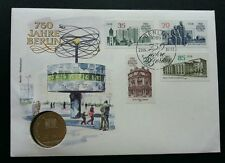 Germany DDR 750 Years Berlin 1987 City Building FDC (coin cover)