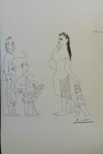 Pablo Picasso(After) Mother Innocent - Lithography Erotic Signed, 1200ex