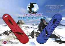 snowboards plastic in red made in the UK