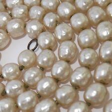 LONG VINTAGE MIRIAM HASKELL BAROQUE PEARL ROPE NECKLACE