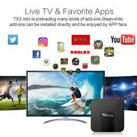 TX3 Mini Smart TV Box Android 7.1 S905W Quad Core 1G+8G WIFI 4K Set-top Box