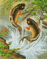 DIY Diamond Painting Full Drill 5D Fish Embroidery Cross Stitch Kits Home Decor
