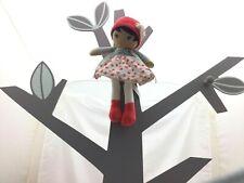 Kaloo ma première poupée Jade velours tissu rose gris  25 x 11 x 6 cm