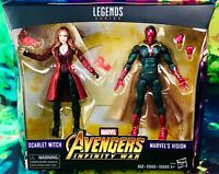 Scarlet Witch & Vision MCU Avengers: Infinity War Marvel Legends Series 2-Pack