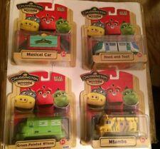 Chuggington Wood Trains Lot #402 Hoot and Toot Musical Car Mtambo Green Wilson