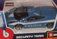 1 MODELLINO BURAGO SECURITY POLICE SUPER CAR AUTO POLIZIA LAMBORGHINI GALLARDO