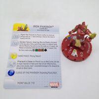 Heroclix Invincible Iron Man set Iron Pharaoh #051 Chase figure w/card!