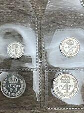 More details for elizabeth ii, maundy money, 1982, set of 4 coins, 0.925 silver