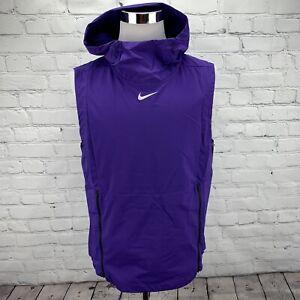 Nike Alpha Fly Rush 908420-545 Purple Hoodie Vest Sleeveless Jacket Men's