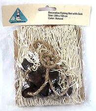 Deko Fischernetz Beige 200 x 150 cm Baumwolle mit Schwimmerleine