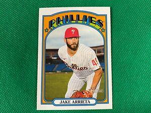 2021 Topps Heritage #442 Jake Arrieta SP Philadelphia Phillies