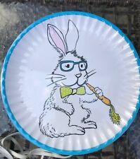 Easter Modern Bunny Dinner Plates Set of 6