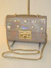 Steve Madden Prince Natural Pale Pink Chain Shoulder Bag $88