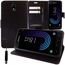 Etui Coque Housse Portefeuille NOIR Rabat pour Samsung Galaxy J3 (2017) J330F/DS