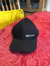 Microsoft Black Baseball Cap Hat Adjustable Snapback Cotton One Size Fits All