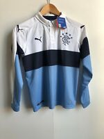 Rangers FC Kids PUMA 2016/17 L/S 3rd Match Shirt - 11-12 Years - Blue/White- New