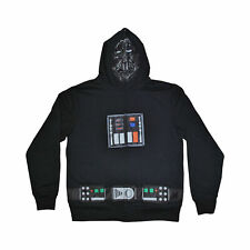 Men's halloween Star Wars Darth Vader Full Zip Sweatshirt Hoodie Costume Lg new