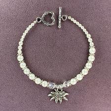 EDELWEISS BRACELET Totem Dirndl Flower Amulet Talisman Symbol Alps White Pearl