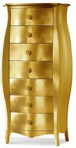 Chest of Drawers 1371 Rounded Gold Classic, Color Leaf Gold
