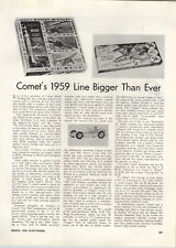 1959 PAPER AD Article Comet's Scale Model Airplanes Guided Missiles Kits Sets
