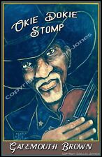 """Clarence """"Gatemouth"""" Brown Okie Dokie Stomp Poster by Cadillac Johnson"""